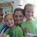Karsynn, Mrs. Newitt and her two best buddies!